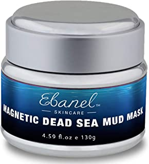 Magnetic Dead Sea Face Mask, Mud Mask for Face and Body, 100% Natural SPA Quality with Retinol, Plants Stem Cell Extracts to Treat Acne,Blackheads,Reduce Pores,Deap Cleansing,Brightening 4.59oz/130g