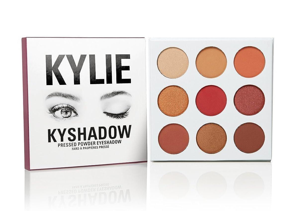 光沢のある囲いとKylie Cosmetics(カイリーコスメティック)The Burgundy Palette KYSHADOW 新作 9色アイシャドウパレット