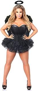 Women's Lavish Plus Size Flirty Dark Angel Corset Costume