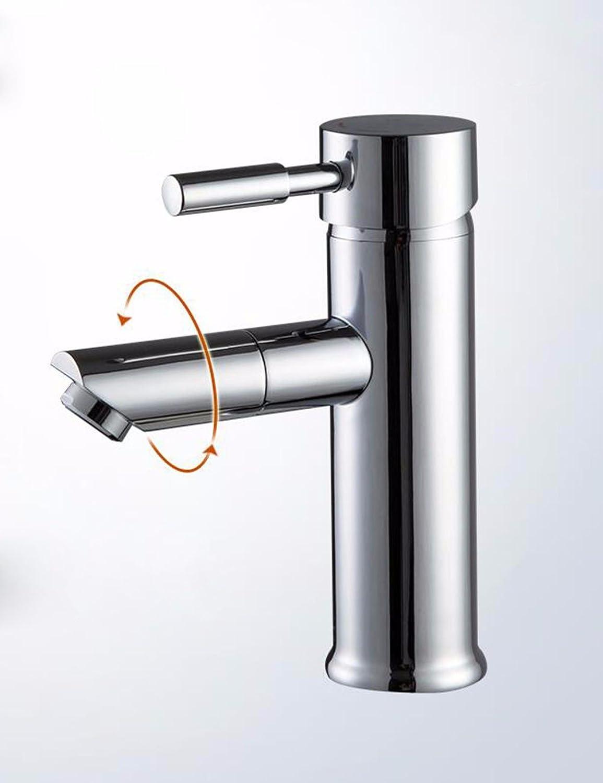 Waschtischarmatur Wasserhahn Mit Herausziehbarer Dual-Spülbrause Spiralfederhahn Wasserhahn Kupfer Heier Und Kalter Becken Wasserhahn, Multifunktions Drehbare Wasserhahn, Waschbecken Wasserhahn