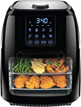 Chefman 6.3 Quart Digital Air Fryer+ Rotisserie, Dehydrator, Convection Oven, 8 Presets to Air Fry, Roast, Dehydrate, Bake & More, BPA-Free, Auto Shut-Off, Accessories Included, XL Family Size, Black
