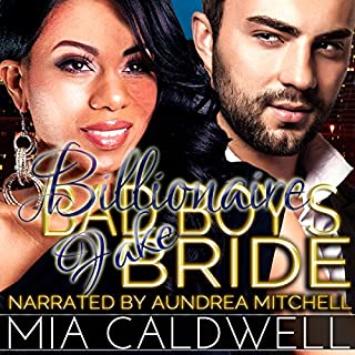 Billionaire Bad Boy's Fake Bride audiobook cover art