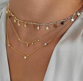 گردنبند آویز گردنبند آویز گردنبند چوکر زنانه BERYUAN طلا و جواهر گردنبند نوجوان زنانه و دخترانه هدیه برای او (GOLD)