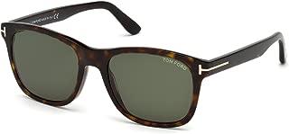 FT 0595 Eric Sunglasses 52N Dark Havana/Green Lens 55MM