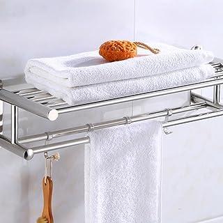 バスルームタオルラックバスルームストレージバッグステンレスウォールタオルラックホームホテルウォールシェルフハードウェアアクセサリー