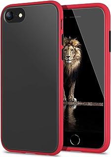 YATWIN Funda para iPhone SE 2020, Funda iPhone 8, Funda iPhone 7 Transparente Mate Case, [Shockproof Style] Botones Colori...