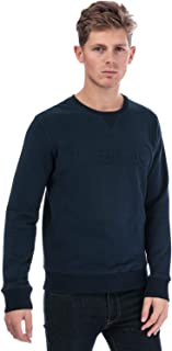 Timberland Mens Taylor River Crew Sweat in Navy- Ribbed Cuffs, Collar and Hem-
