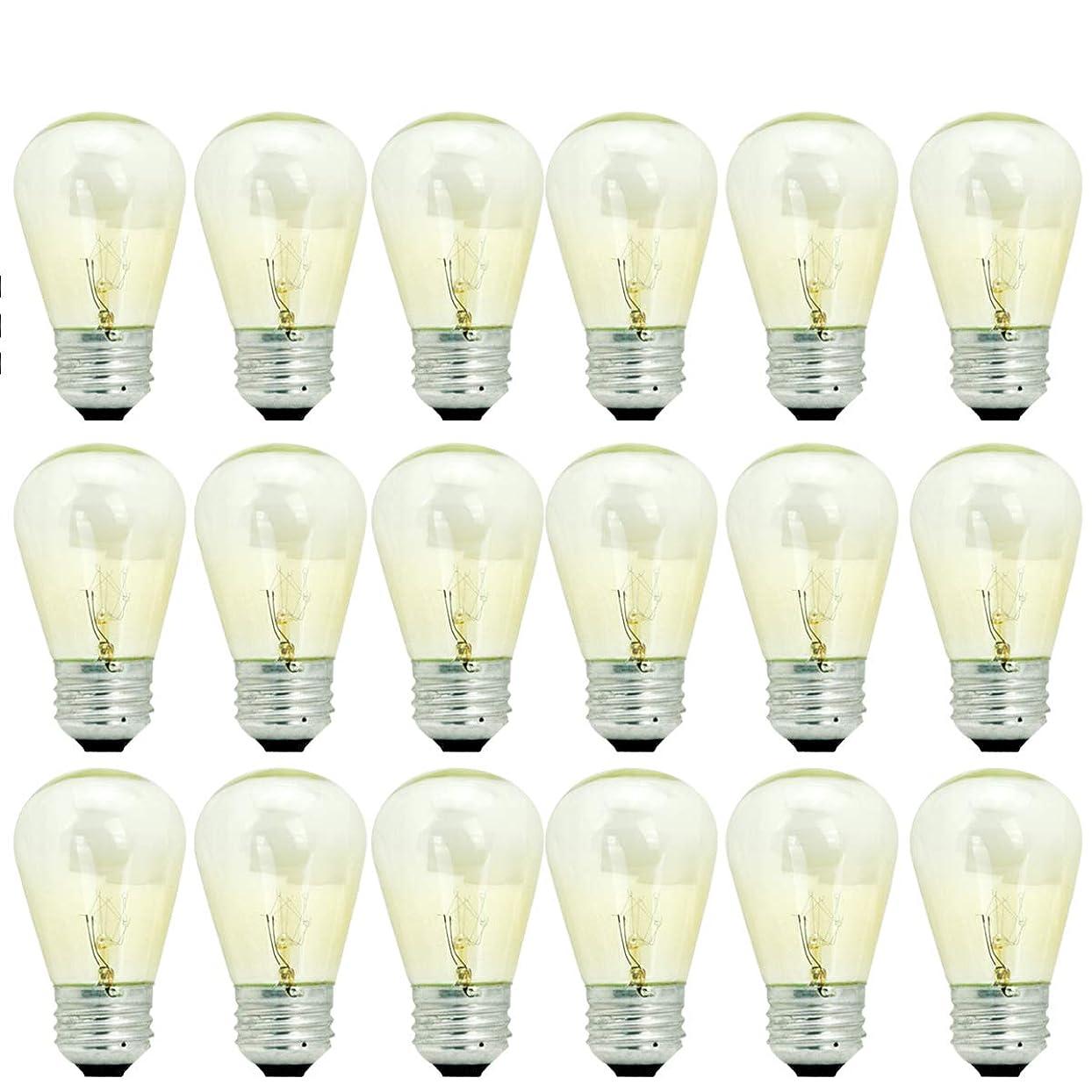 導入する導入する日常的にBRTLX E26口金 11W 電球色2700K 18個 エジソンランプ フィラメント電球 エジソン バルブ ガラスクリア電球 ストリングライト (フィラメント電球18p)