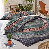 Tanya Handicrafts Mandala duvet cover 3 pieces set Bohemian bedding Duvet cover set Donna cover (Queen)
