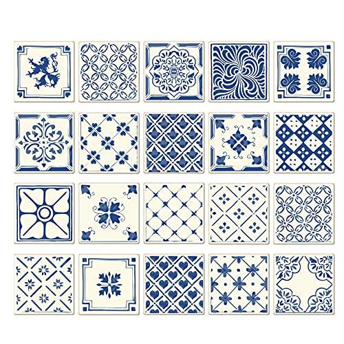 HOLSKEAT 20 Piezas Pegatinas de Azulejos Pegatinas de Baldosas Calcomanías Autoadhesivas de Vinilo para Cocina Pegatinas de Vinilo para Pared de Cocina de PVC Impermeables