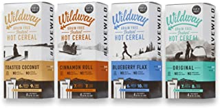 Wildway Grain-free, Keto Hot Cereal Variety Pack, 7 .oz ea, Pack of 4