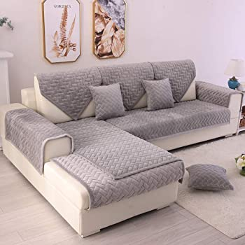 Amazon.com: TEWENE Couch Cover, Sofa Cover Couch Covers Sectional Couch Covers Anti-Fading Sofa Slipcover For Dogs Cats Pet Love Seat Armrest Backrest Cover Light Grey 36