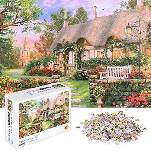 EXMOGO Puzzles für Erwachsene Puzzle 1000 Teile für Erwachsene Jugendliche (England Cottage)
