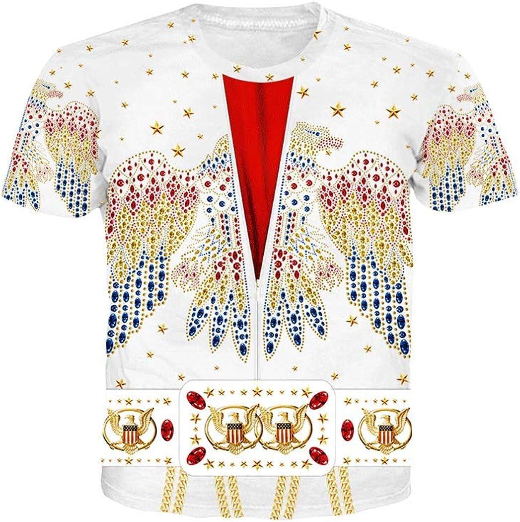 Unisex 3D Printed Short-Sleeved T-Shirt Novelty Pattern T-Shirt
