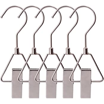 Towels Portable Stainless Drying Clip for Bras Laxhand 12PCS Laundry Hanging Hooks with Clips Boot Hanger Heavy Duty Clothes Pins Socks Underwear A02