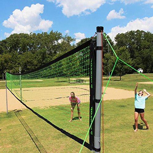 Volleyball Badminton Set Net Portable Adjustable Poles 4 Rackets Kids Family Fun Sports Beach Park Backyard Outdoor