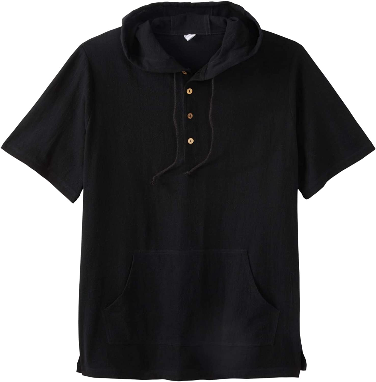 KS Island Max 74% OFF by KingSize Men's Tall List price Short-Sleeve Big Gauze Hoodie