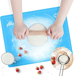 CHUER Tapis de Cuisson, Bukm Silicone Tapis de Cuisson Mesures Antiadhésives Fondant Pâte Pastry Mat Bake 50 * 40cm, pour ...