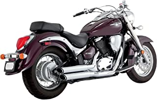 Vance And Hines Twin Slash Staggered Exhaust System For Suzuki VL800 Boulevard C50/M50 2005-2009 - 18293