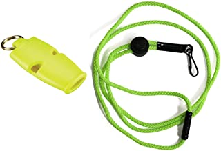 Fox 40 Micro Safety Whistle with Breakaway Lanyard Neon