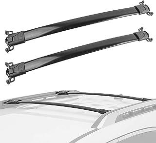 MOSTPLUS Roof Rack Cross Bar Rail Compatible for Chevy Equinox/GMC Terrain 2010 2011 2012 2013 2014 2015 2016 2017 Cargo Racks Rooftop Luggage Canoe Kayak Carrier Rack