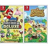 Nintendo New Super Mario Bros. U Deluxe Switch [Importación italiana] + Animal Crossing: New Horizons ( Switch)