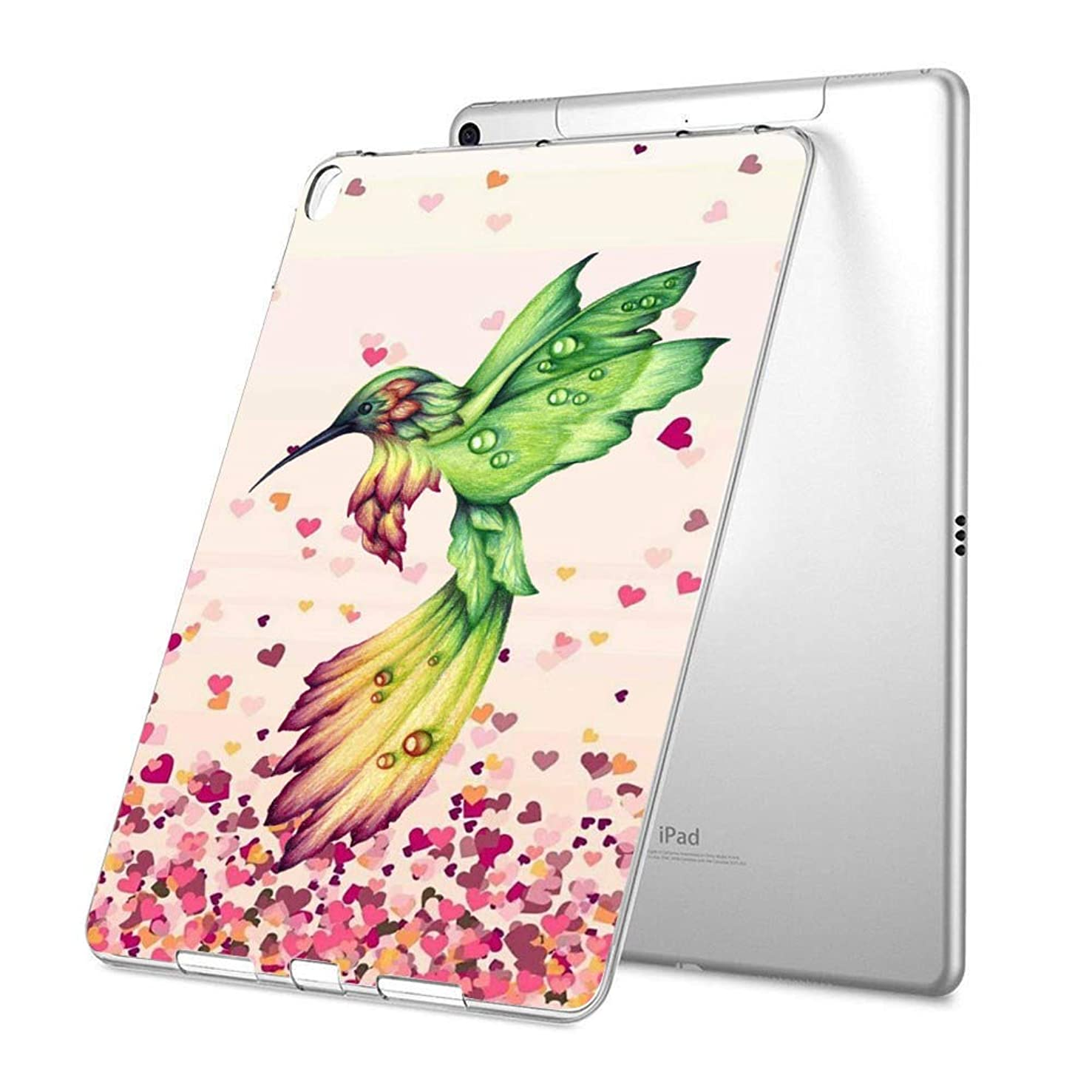 GinHo Customized Protective Cover with Slim Soft Durable TPU Ultra-Clear Silicone UV Printing Case for Hummingbird iPad Pro 9.7 inch 2017
