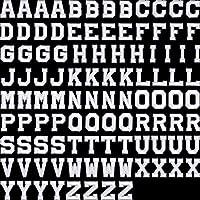 アイロン接着レターパッチ アルファベットアップリケパッチまたは縫い付けアップリケ 刺繍パッチ付き A~Zレターバッジ 装飾修理パッチ 帽子 シャツ 靴 ジーンズ バッグ用 104 Pieces Boao-Alphabet Applique Patches-01