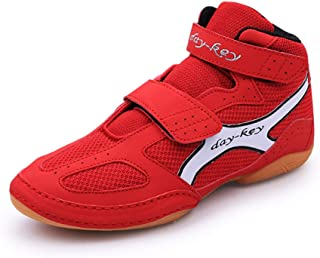 FJJLOVE Men Boxing Boots, Low Top Martial Arts Shoes No-Slip Boxer Trainers Shoes Lightweight Wrestling Boots for Kids, Bo...
