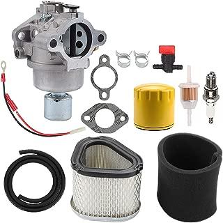 Hayskill 42-853-03S 20-853-33-S Carburetor for Kohler 20-853-14-S 20-853-16-S 12-853-93-S, Air Filter for John Deere GY20574 M92359 LT133 LT155 LX255 Lawn Tractors