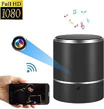 WNAT Hidden Camera 1080P WiFi HD Spy Camera Bluetooth Speakers - Wireless Mini Camera Rotate Left/Right 180° Video Recorder Real-Time View Nanny Cam