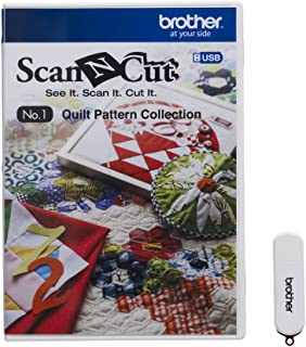 Brother CAUSB1 ScanNCut USB No. 1 Quilt Pattern Collection, White