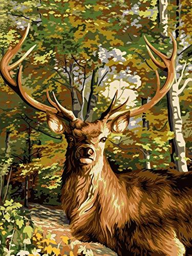 Der Hirschbulle – (MG-059) (50x70) Gobelin Stickbild Halber Kreuzstich Stickpackung