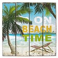【アメリカン ウッド サインボード ビーチ タイム】BEACH TIME/WB16007 サーフィン メッセージ看板 木製看板 案内看板 カリフォルニア看板 看板 ガレージ アメリカン雑貨 アメリカ雑貨 西海岸