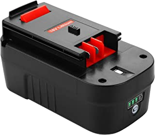 Powilling Innovation 5.0Ah Lithium-Ion HPB18 Replacement Battery for Black and Decker 18 Volt Battery HPB18-OPE 244760-00 A1718 FS18FL FSB18 Black Decker 18V Battery