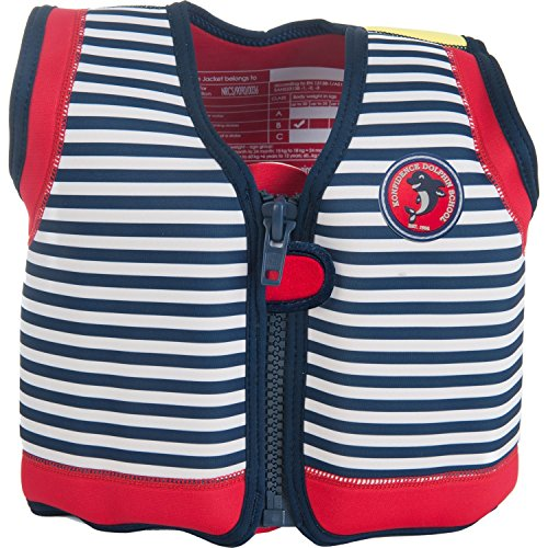 Konfidence The Original Children's Swim Jacket (Hamptons Navy Stripe, 18 Months to 3 Years)