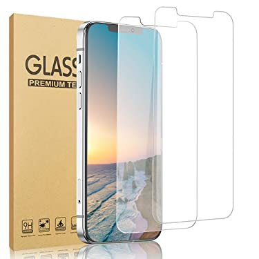 [2 Pack] GOLDBLACK Compatible with iPhone 12 Pro Max Tempered Glass Screen Protector [Anti-Scratch] [3D Touch] [No Bubble] [Case Friendly] Compatible with iPhone 12 Pro Max 5G (6.7 Inch) 2020