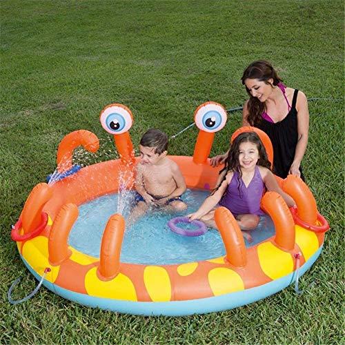 AnQna PVC Kinder aufblasbarer Swimmingpool Runde Baby-Planschbecken außen bewegliche Baby-Badewanne Kid Water Pool 165 * 150 * 63cm