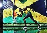 Poster Usain Bolt Sprint Olympiasieger Rekordlegende