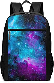 Purple and Blue Galaxy Sky School Backpack Casual Travel Business School Daypack Classic Basic Backpack Travel Bag Compute...