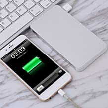 Ultra thin 50000mAh External Power Bank Charger Backup Battery Charger Ultra-Thin Aluminum Metal Case Dual USB Port 50000mAh Best Charger for All USB DEVICES iphone, Samsung, HTC, All Phones - Silver