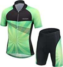 FREE FISHER Cycling Jersey Kids,Short Sleeve Cartoon Road Mountain Bike Jersey Set/Top/Short for Girls Boys Breathable