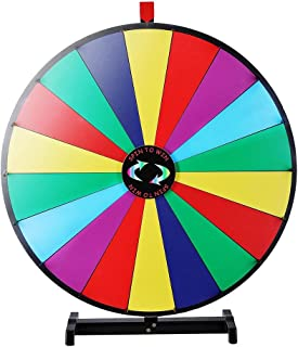 WinSpin 18 Segment 30 inches Tabletop Colorful Spin Prize Wheel for Fortune Carnival Spin Game DIY Editable
