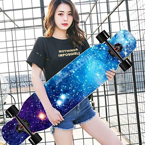ZXCMNB Roller Ahorn Longboard Junge Mädchen Pinsel Street Dance Board Anfänger Erwachsene Teen Allrad Skateboard Skateboards (Color : C)