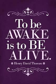 Henry David Thoreau to Be Awake is to Be Alive Purple Cubicle Locker Mini Art Poster 8x12
