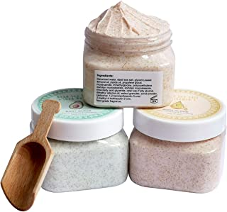 Ultra Exfoliating & Cleanse Body Scrub Gift Set, 3 Pack Natural Dead Sea Salt Body Scrub, Anti-aging & Whitening & Hydrati...