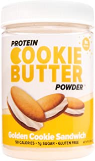 FDL Keto Friendly Protein Powder Cookie Butter - Low Carb Recipes, Healthy Snacks, High Protein, Gluten Free - 2g Net Carb - 8.4oz (Golden Cookie Sandwich)