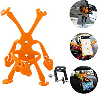 DZG Car Phone Mount Air Vent Holder Electronics Universal Dash Cradle(Orange)
