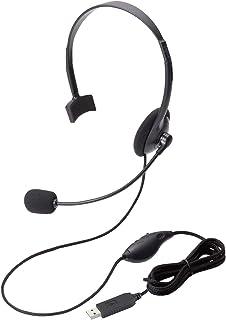 エレコム ヘッドセット マイク PS4対応 USB 片耳 オーバーヘッド 1.8m HS-HP21UBK