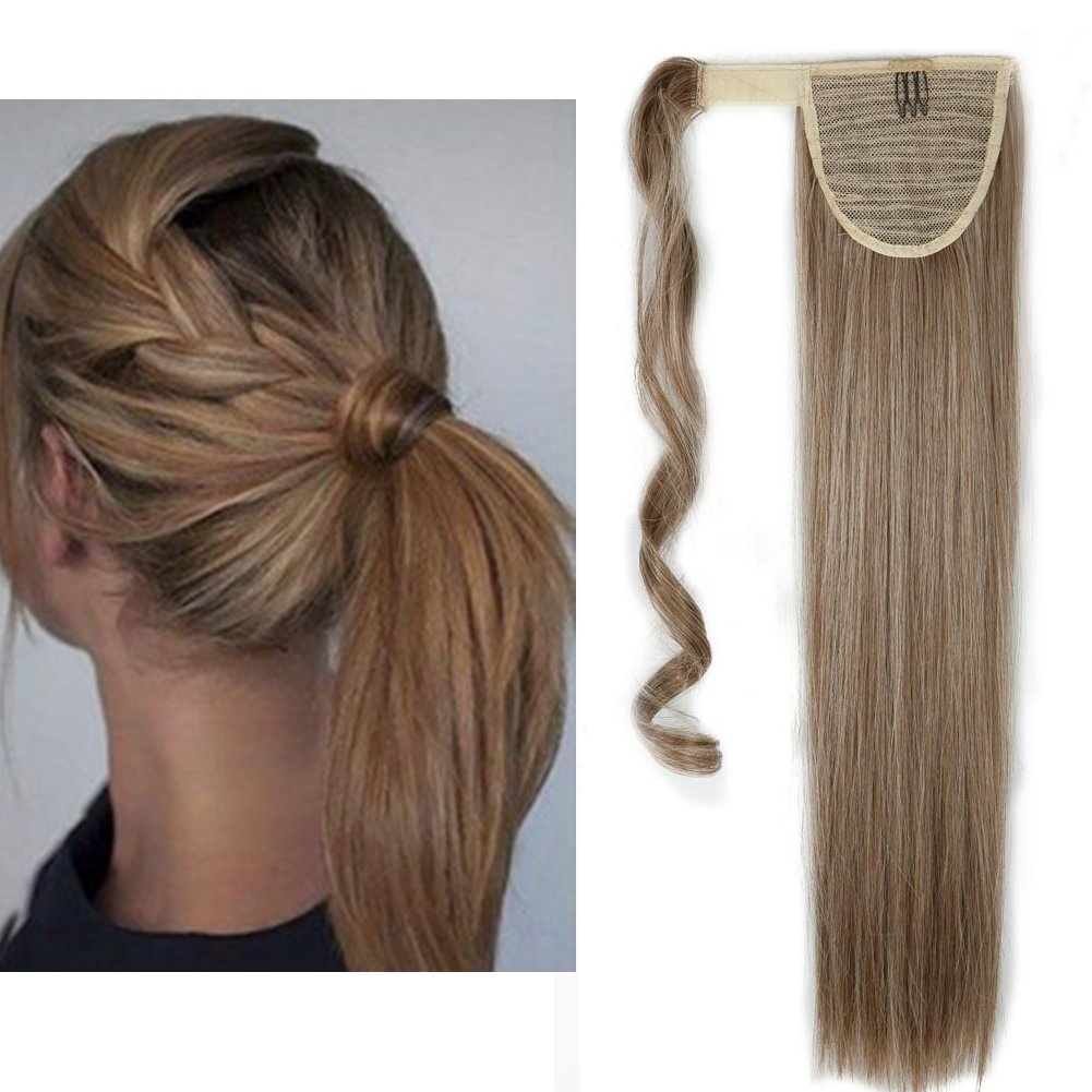 Limited time sale Straight Max 44% OFF Curly Wavy Wrap Around Ponytail in Hair Clip Extension